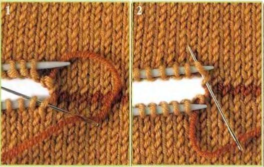 как соединить детали вязаного изделия как скрепить две части