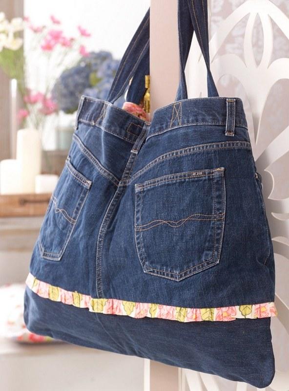 cc87fa8c2135 НАША СТРАНА МАСТЕРОВ: Как сшить сумку из старых джинсов