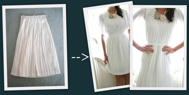 Как можно сделать из платья юбку