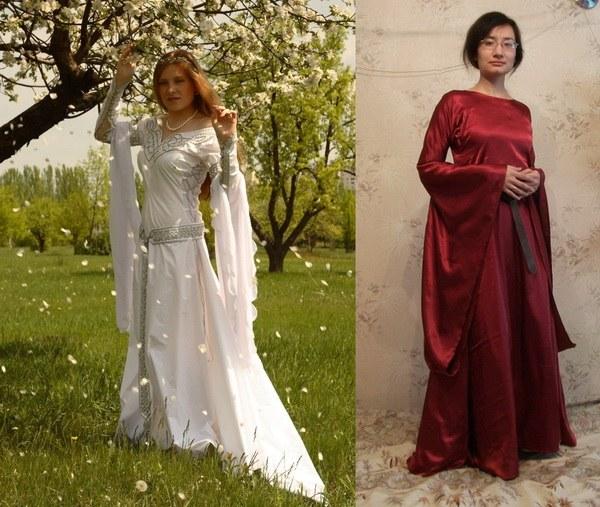 Рукава средневековые платья
