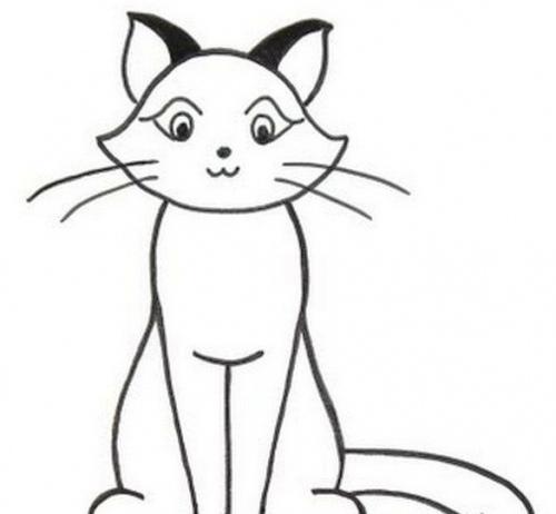 Рисовать кот сидит