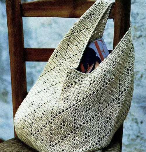 b83dcf71d999 Как вязать сумку для покупок 🚩 Вязание сумок спицами для начинающих ...