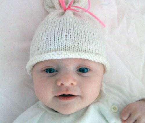 Спицами шапочка для новорожденной девочки спицами схема
