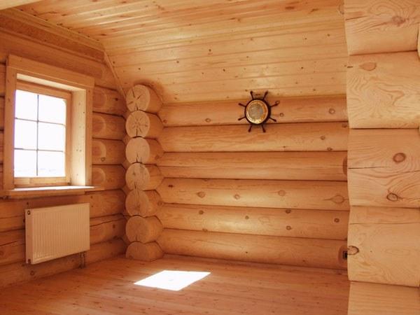 как обставить деревянный дом фото