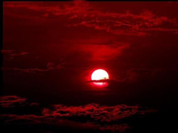 Почему закат красного цвета