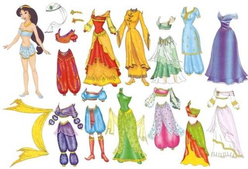 Нарисовать платье для куклы