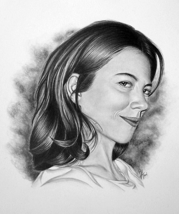 рисование портрета карандашом: