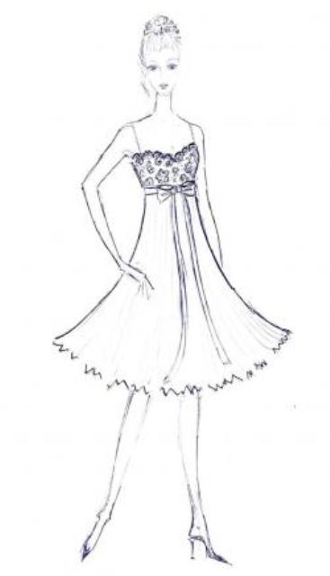 Эскизы платьев рисовать
