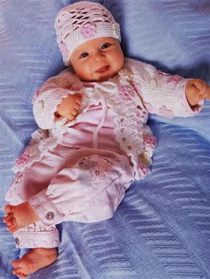 Шапочки вязаные крючком для новорожденных