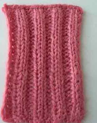Двойная резинка в вязании