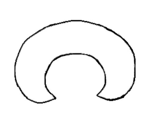 ширина круглого воротника