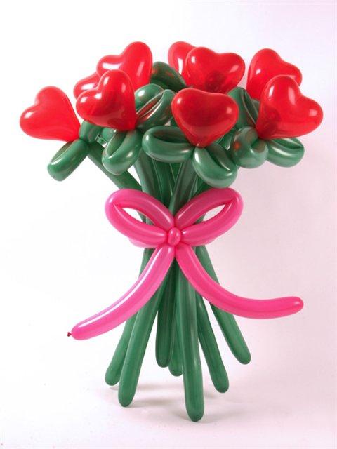 Как сделать цветок воздушных шариков 63