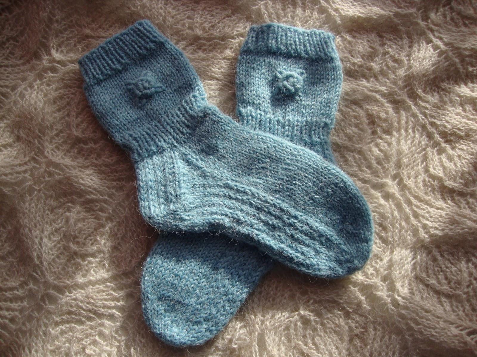 схемы вязание носка пятка