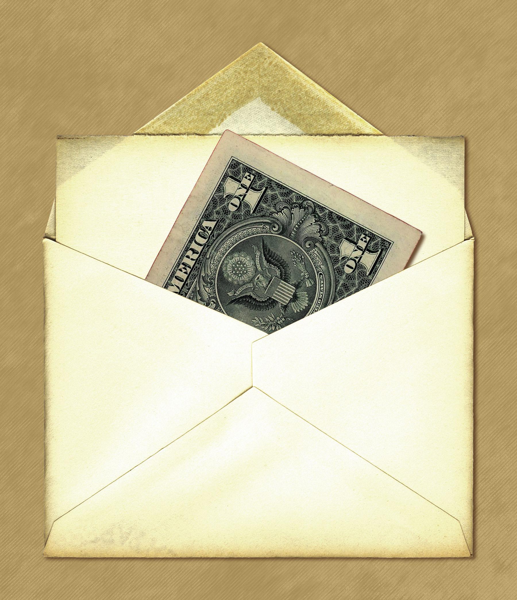 Письмо подарок с деньгами 75