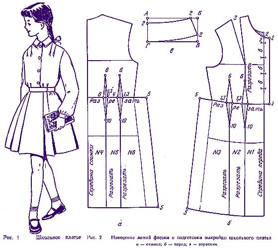 Как сшить платье из школьной формы