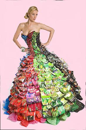 Как делать платья из мешков