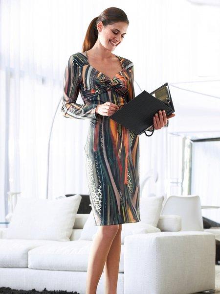 Как сшить платье из трикотажное полотно