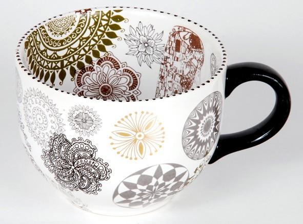 Как расписать посуду :: роспись стеклянной вазы акриловыми ...