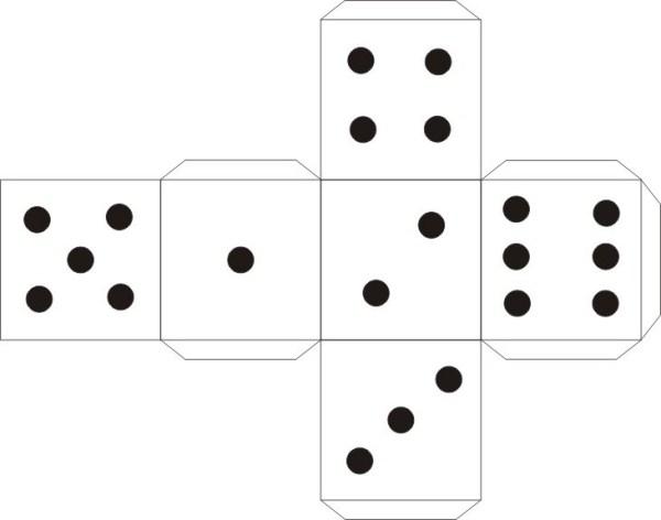 Игральный кубик схема