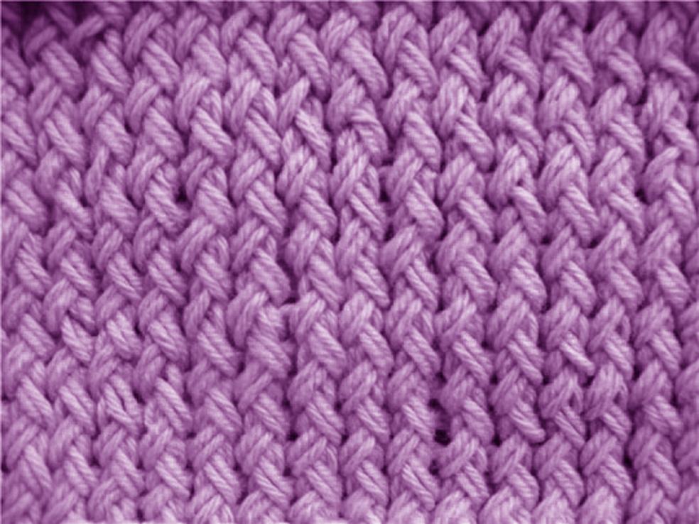 узор крупный жемчужный спицами схема