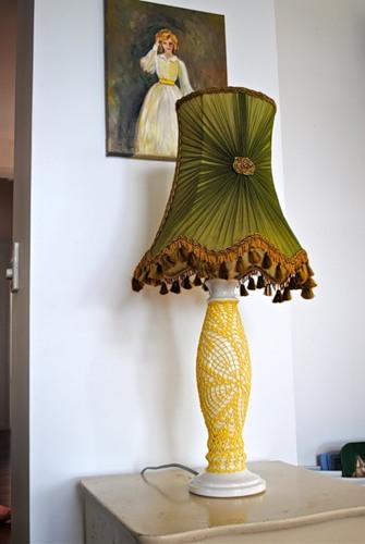 Настольная лампа своими руками из бисера