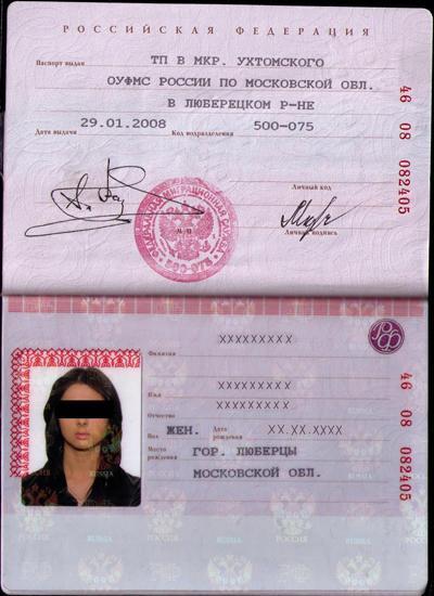 образец паспорта российской федерации - фото 2
