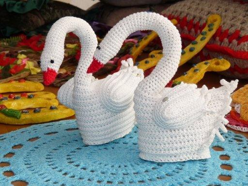 Вязание лебедя видео