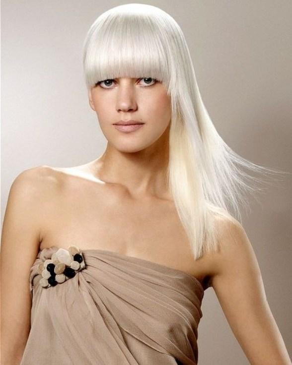 Осветление темных волос в белый