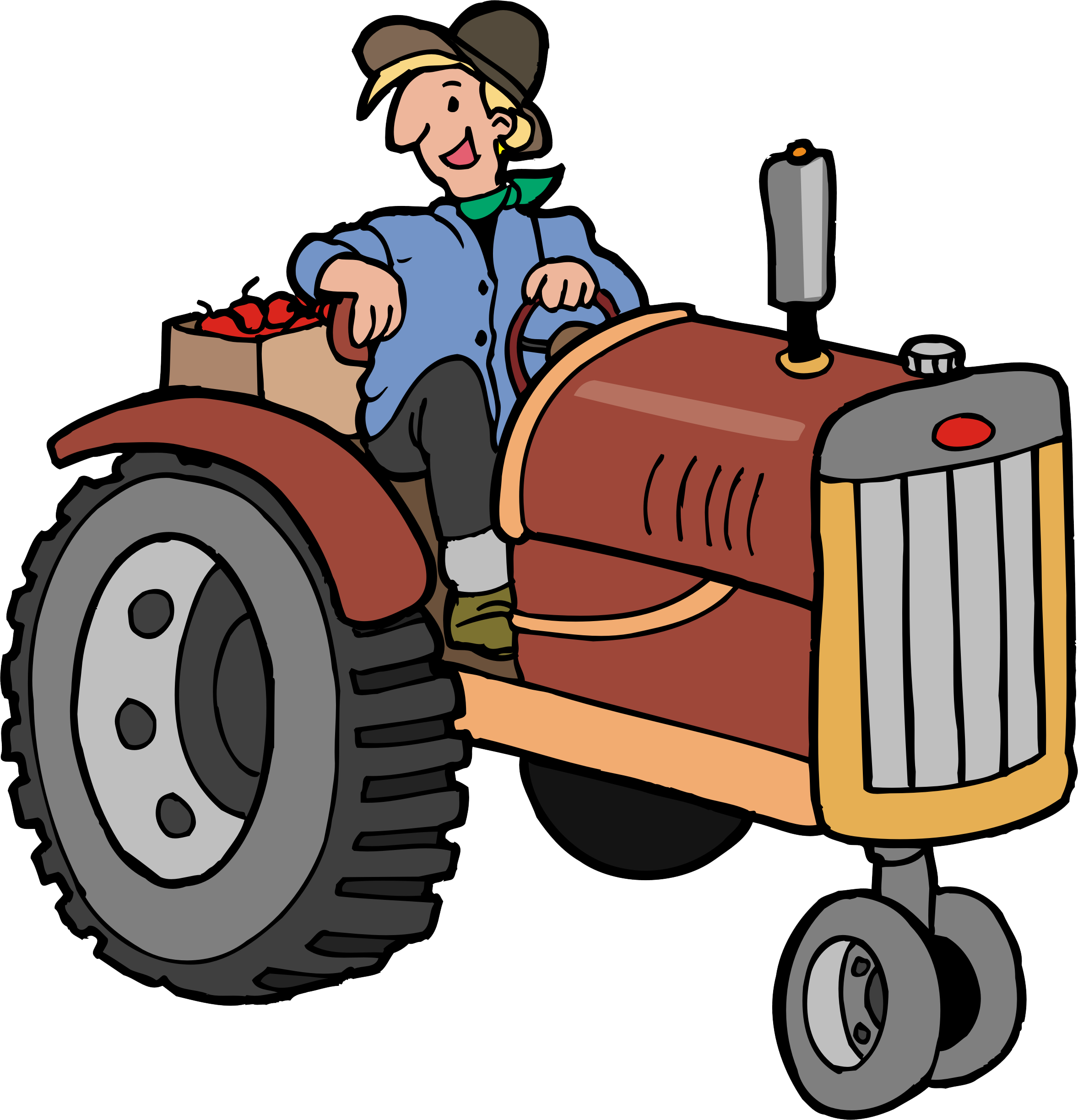 Картинки по запросу тракторист рисунок