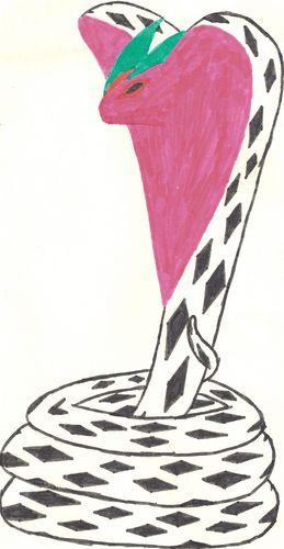 рисунки карандашом кобры: