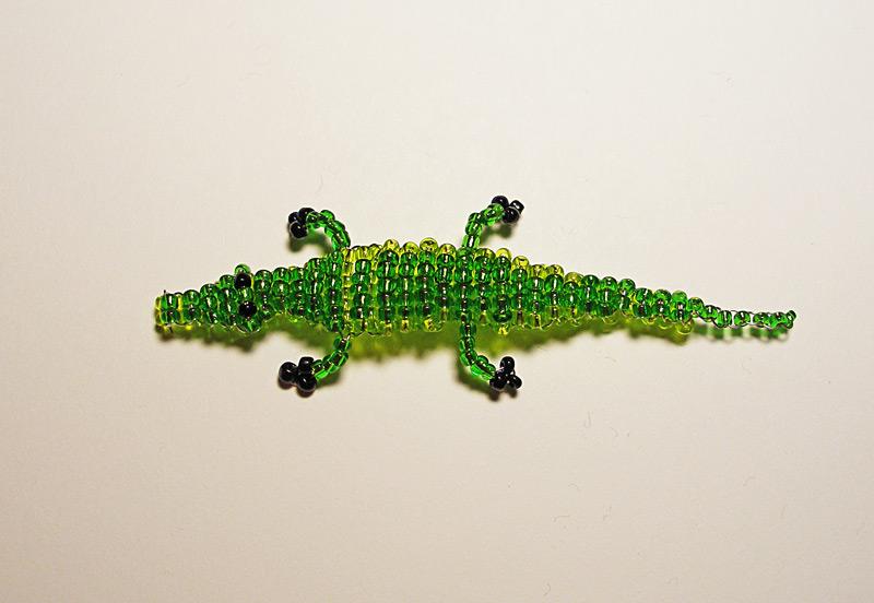 Как сделать из бисера крокодила своими руками (фото и видео).