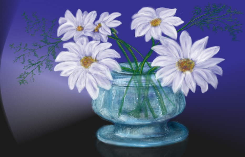 Как гуашью нарисовать цветок