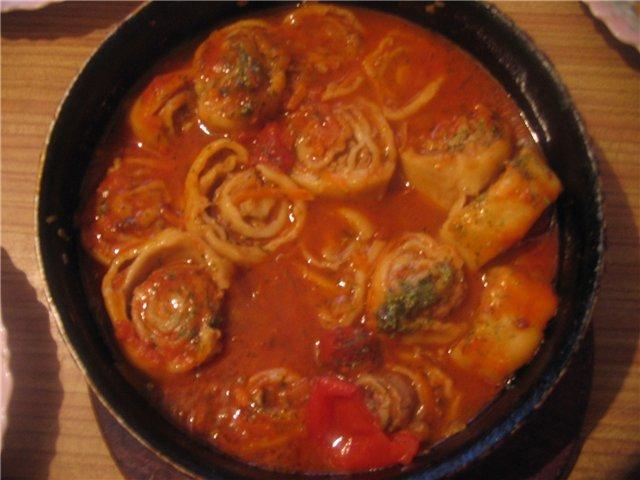 рецепт подливы из колбасы