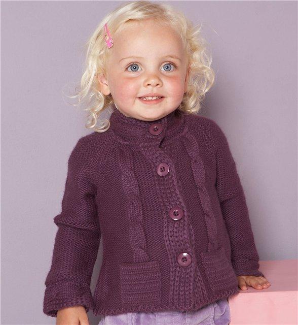 Как связать свитер для девочки