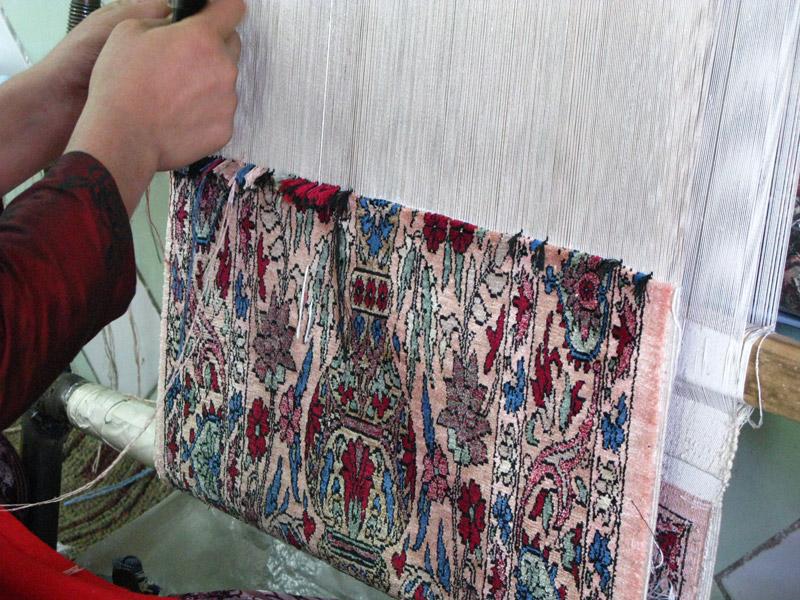 Как соткать ковёр
