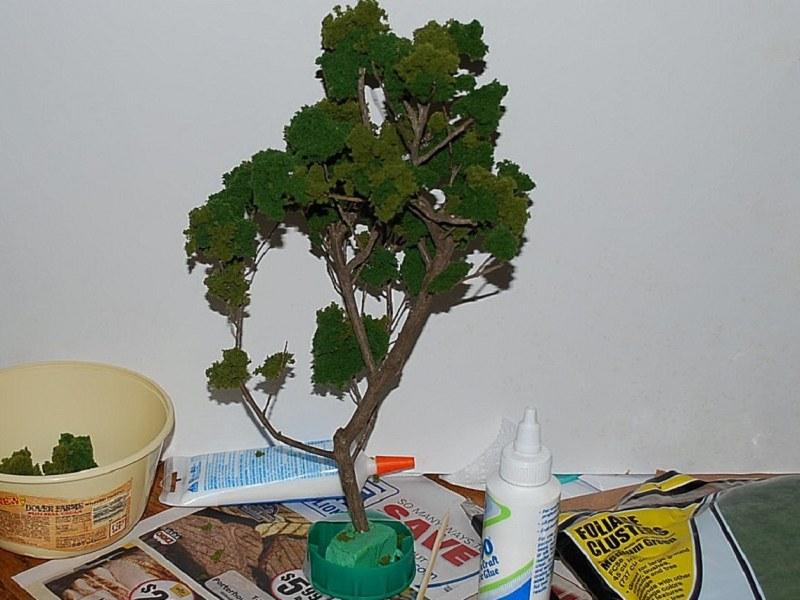 Макет дерева из картона своими руками