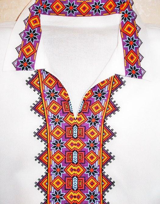 Многоцветные вышивки крестом