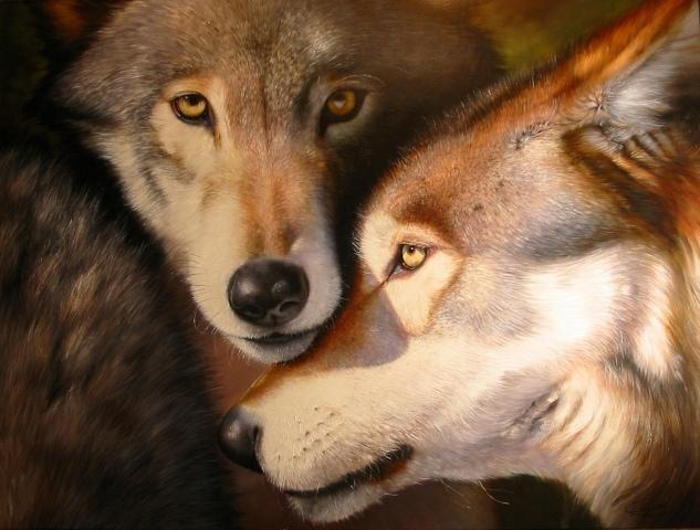 Как вышить волка