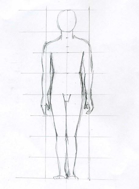 как рисовать туловище человека: