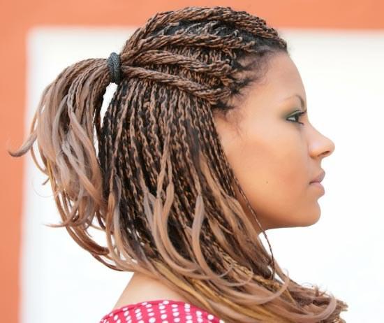 Косички с вплетением искусственных волос