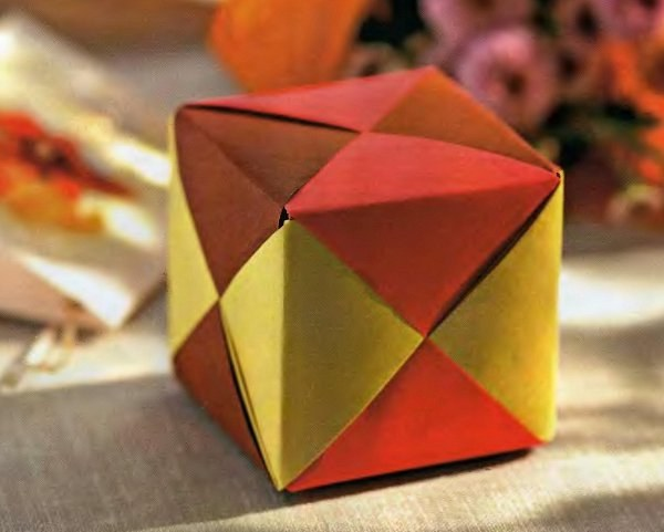 куб из бумаги Как сделать