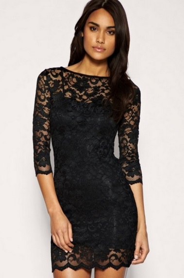 Сшить платье футляр короткое из кружевной ткани