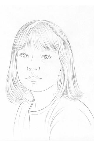 портрет карандашом поэтапно: