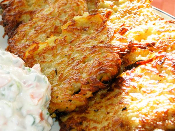 драники без яиц с сыром