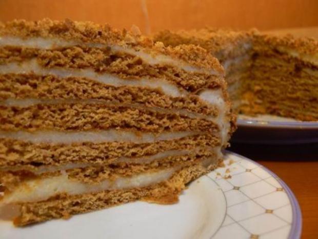 рецепт торт медовик и начинка