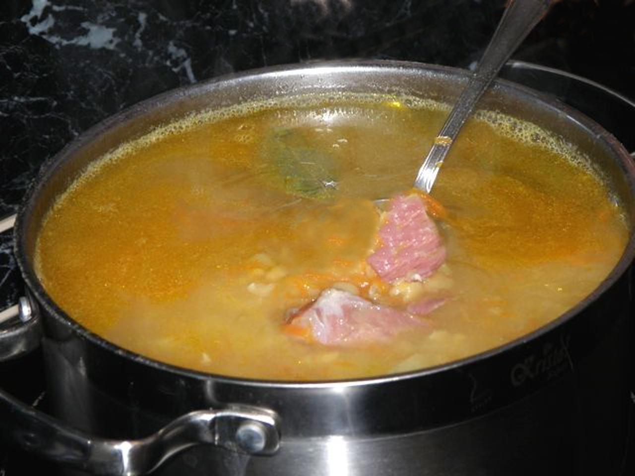копченой рецепт рулькой с суп Гороховый