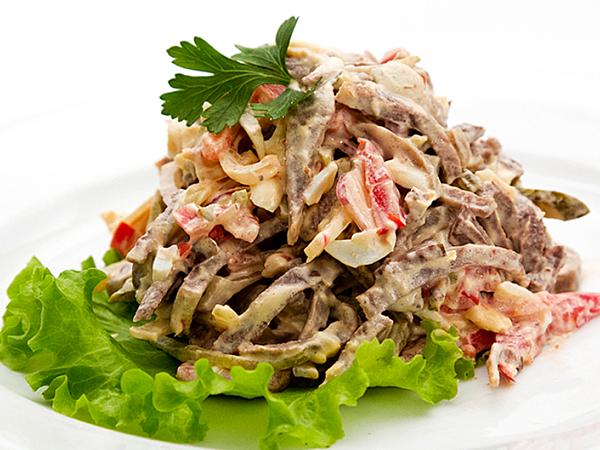 кулинарные рецепты с фото салат с языком