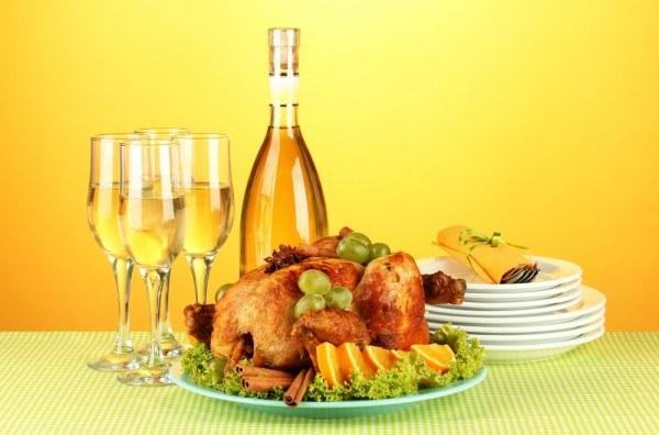 Курица в шампанском на Новый год
