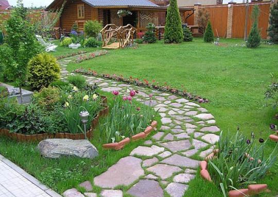 Дорожка для сада своими руками фото