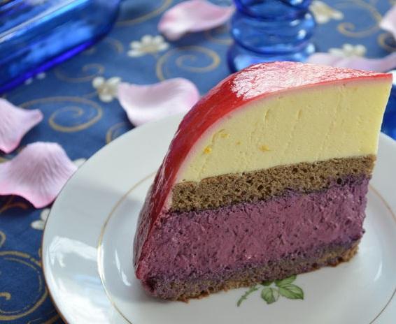 йогуртовый черничный торт рецепт с фото